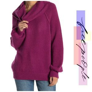 NWT Free People Echo Beach Cowl Neck Sweater New